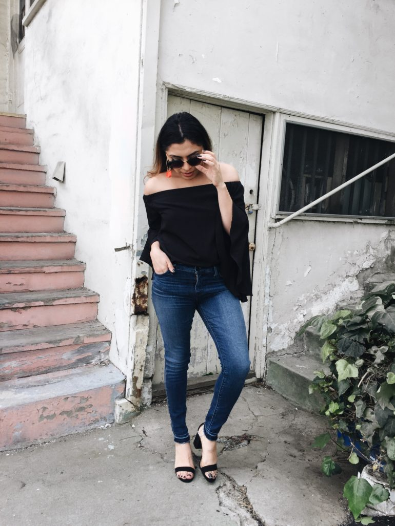 Alexis Alcala in Los Angeles California wearing Nordstrom in the Spring