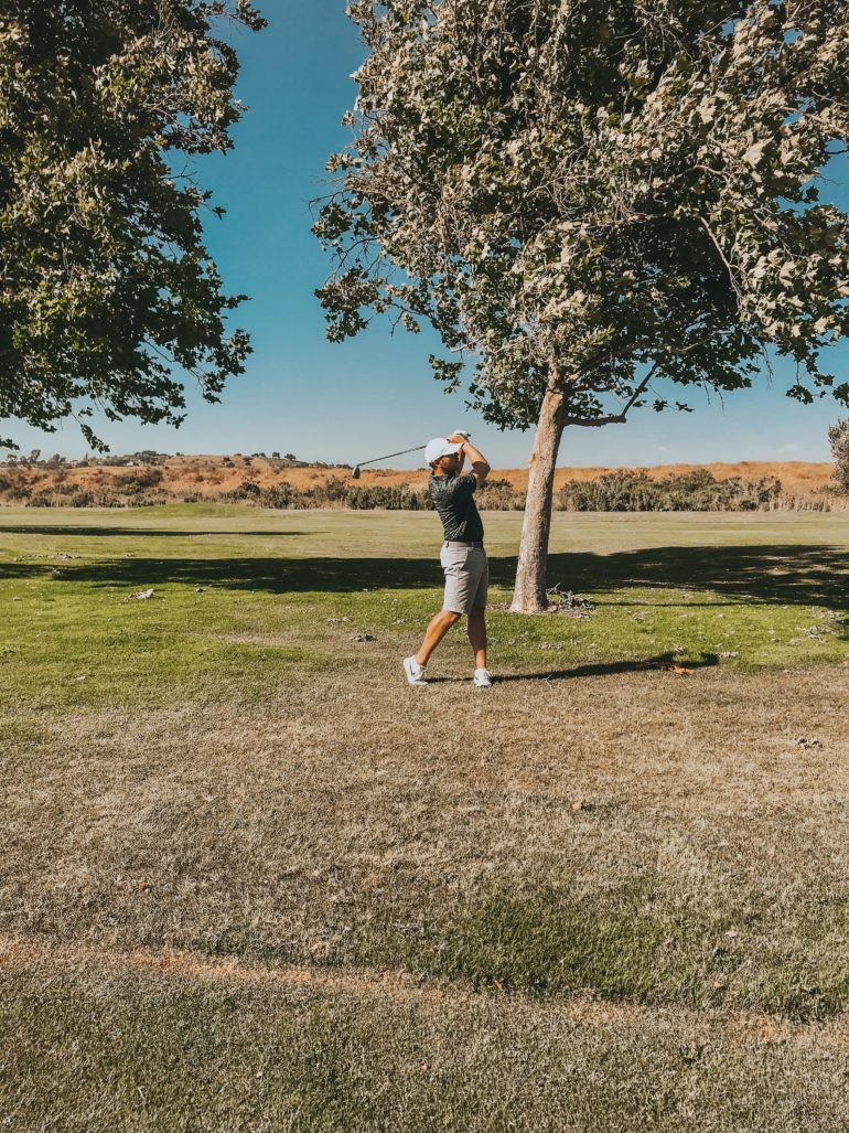 Bryan Stauffer golfing at the river course at the alisal in Solvang California
