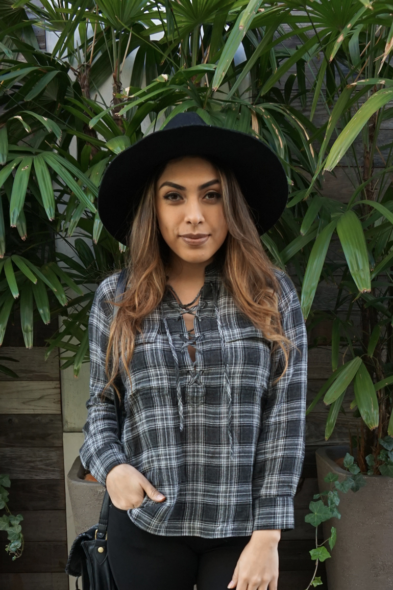 Alexis Alcala in madewell and Nordstrom